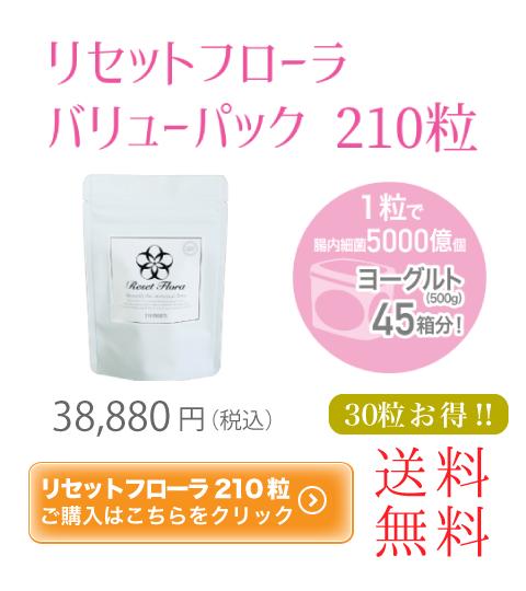 リセットフローラ 210粒 38880円 送料無料