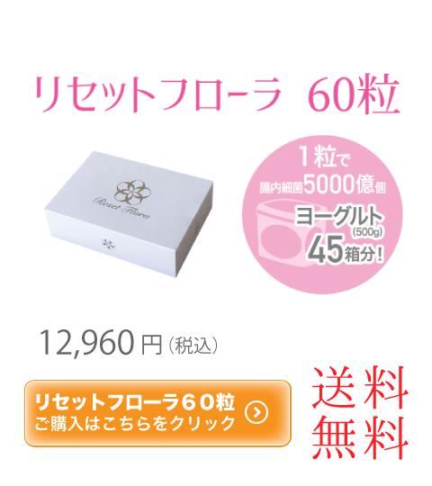 リセットフローラ 60粒 12960円 送料無料